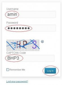 Membuat blog 3 - user name password dan capthcha