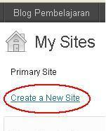 Membuat blog 5 - create new site