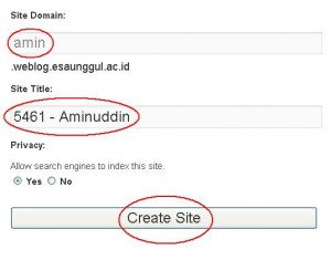 Membuat blog 6 - create domain dan title